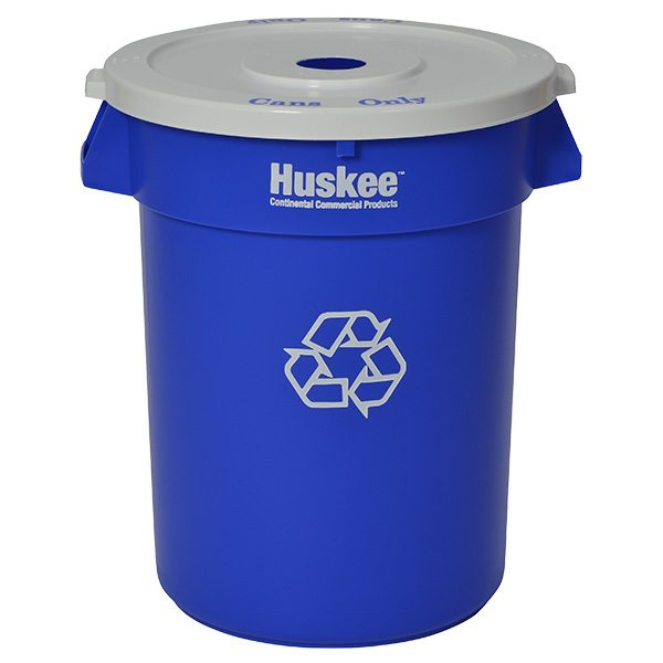 Huskee™ Round Recycling Receptacles